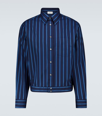 Lanvin Striped long-sleeved shirt