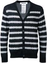 Anrealage striped cardigan - men - Silk/Rayon/cotton - 48