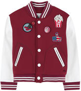 Little Marc Jacobs Mini Me bi-material teddy jacket with patches