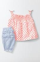 Infant Girl's Mini Boden Smocked Tank & Pants Set
