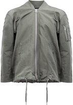 08sircus drawstring bomber jacket - men - Linen/Flax/Nylon - 5