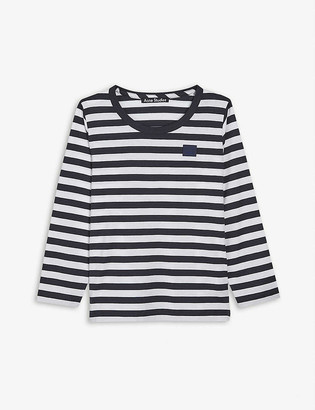 Acne Studios Nash long-sleeved striped cotton T-shirt 3-10 years