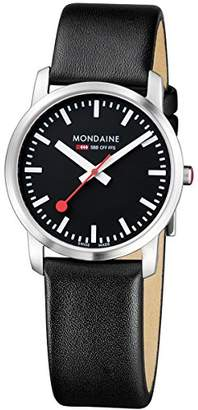 Mondaine Women's SBB Stainless Steel Swiss-Quartz Watch with Leather Strap