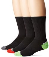 Fruit of the Loom Men's Breathable Half Cushion Crew 3 Pack Sock