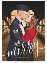 Minted Merry Pine Sprig Christmas Photo Cards