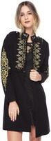 Juicy Couture Melton Embroidered Coat