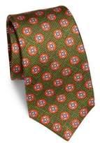 Kiton Geometric Floral Silk Tie