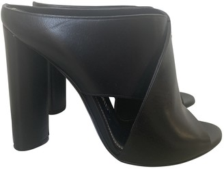 Tom Ford Black Leather Mules & Clogs