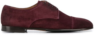 Doucal's suede almond toe Oxford shoes