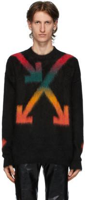 Off-White Black Fuzzy Arrows Sweater