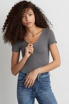 American Eagle Outfitters AE Soft & Sexy Ribbed Zip Bodysuit