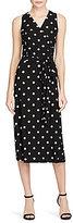 Lauren Ralph Lauren Polka-Dot-Print Jersey Dress