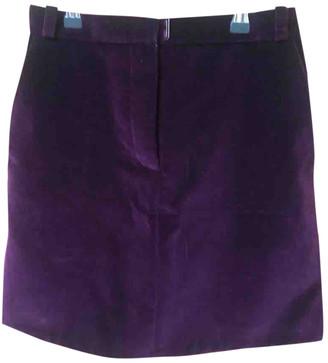 Carven Purple Velvet Skirts