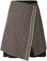 Etro - check wrap skirt
