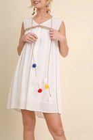 Umgee USA White Pompom Dress