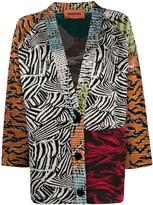 Missoni pattern mix cardigan