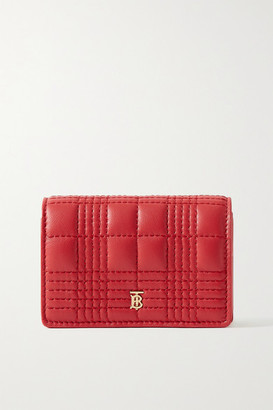 Burberry Quilted Leather Cardholder - Red