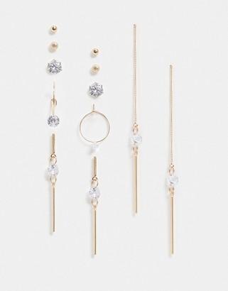 Aldo Oliveiras multipack earrings in gold