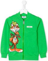Moschino Kids - tiger zipped up sweatshirt - kids - Cotton - 10 yrs
