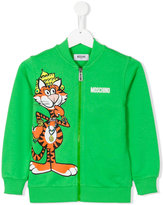 Moschino Kids - tiger zipped up sweatshirt - kids - Cotton - 5 yrs