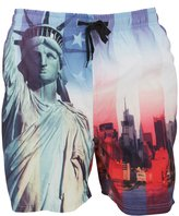Soul Star Soulstar Mens Statue Of Liberty Photo Printed Swim Shorts