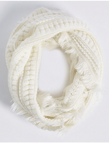 M&S Collection Textured Fringe Snood Scarf