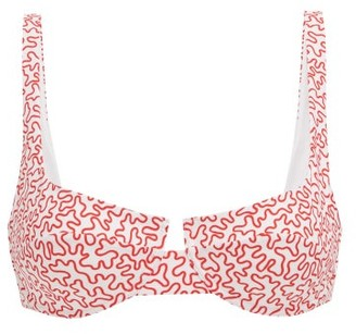 Fisch Grenadins Abstract-print Bikini Top - Red Print