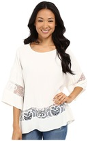KUT from the Kloth Pierce 3/4 Sleeve Lace Top
