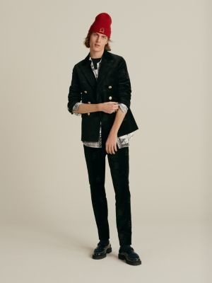 Tommy Hilfiger Crest Embroidery Slim Fit Velvet Trousers