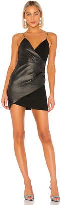 Alice + Olivia Ashanti Faux Wrap Side Zip Dress
