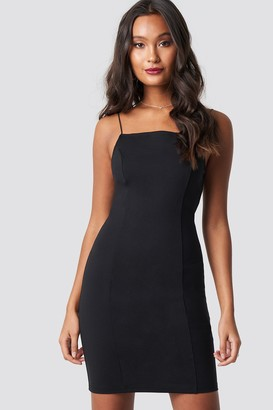 Di Lara Dilara X NA-KD Thin Strap Bodycon Dress Black