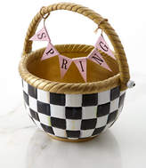 Mackenzie Childs MacKenzie-Childs Courtly Check Large Basket