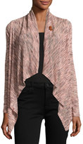Bobeau One-Button Relaxed Cardigan, Multi