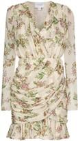 Giambattista Valli floral print draped mini dress