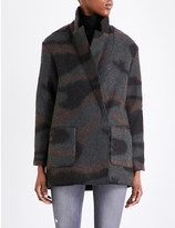 French Connection Camouflage wool-felt coat