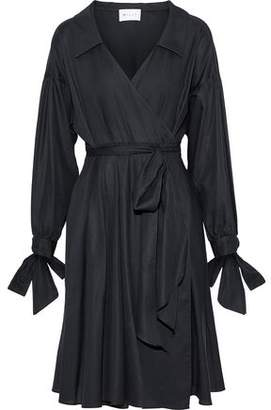 Milly Pleated Cotton Wrap Dress