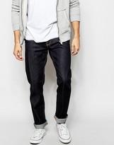 Nudie Jeans Steady Eddie Straight Fit Dry Compact Dark - Blue