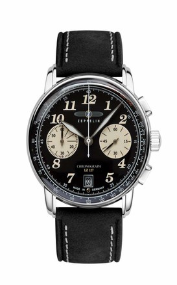 Zeppelin Men's Chronograph Quartz Watch with Leather Strap 8674-3