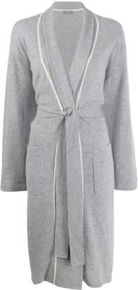N.Peal contrast trim dressing gown