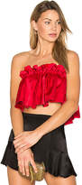 Edit Elasticated Top in Red. - size M (also in S,XS)