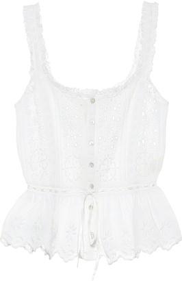 LoveShackFancy Luanne cotton sleeveless top