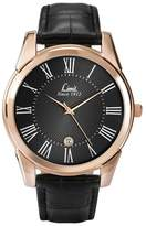 Limit Rose Gold Plated Black Strap Watch 5454.02