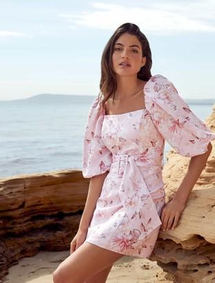 Ever New Ashley Puff Sleeve Mini Dress