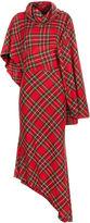 Awake Red Tartan One Sleeve Dress