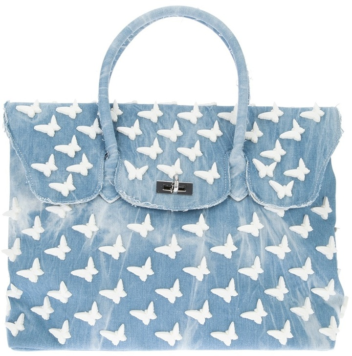 Mia Bag butterfly denim handbag