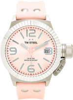 TW Steel Womens Pink Fashion Canteen Strap Watch