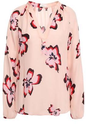 A.L.C. Floral-print Silk-crepe Blouse