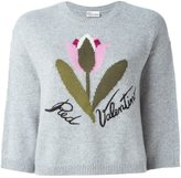 RED Valentino flower intarsia jumper