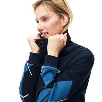 Lacoste Women's Made In France Jacquard Patterned Fleece Sweatshirt Dress