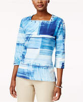 Alfred Dunner Studded Printed T-Shirt